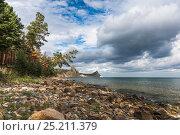 Купить «Вечер на озере Байкал», фото № 25211379, снято 5 августа 2016 г. (c) Андрей Валерьевич Иванов / Фотобанк Лори