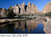 Купить «The Crooked River in Smith Rocks State Park, Oregon, USA, May 2013.», фото № 25216375, снято 18 сентября 2018 г. (c) Nature Picture Library / Фотобанк Лори