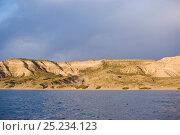 Купить «Coast at Puerto Piramides, UNESCO Natural World Heritage Site, Golfo Nuevo, Peninsula Valdes, Chubut, Patagonia, Argentina, October 2007October», фото № 25234123, снято 22 апреля 2019 г. (c) Nature Picture Library / Фотобанк Лори