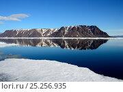 Купить «Smith Island, seen from the floe edge off Ellesmere Island, Nunavut, Canada, June 2012.», фото № 25256935, снято 3 июня 2020 г. (c) Nature Picture Library / Фотобанк Лори