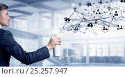 Купить «Social connection and networking . Mixed media», фото № 25257947, снято 24 января 2020 г. (c) Sergey Nivens / Фотобанк Лори