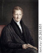 Купить «Portrait of Reverend Thomas Malthus, author of 'An Essay on the Principle of Population'. Mezzotint with later hand colouring painted and engraved by John...», фото № 25263651, снято 17 июля 2018 г. (c) Nature Picture Library / Фотобанк Лори