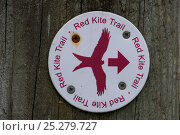 Купить «Red Kite Trail sign in the Urban Red Kite area of the Derwent Valley, Gateshead, Tyne and Wear, UK, on the edge of Tyneside following on from the 'Northern...», фото № 25279727, снято 16 июля 2018 г. (c) Nature Picture Library / Фотобанк Лори