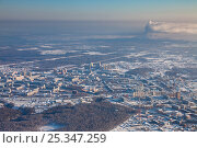 Tobolsk, Tyumen region, Russia in winter, top view. Стоковое фото, фотограф Владимир Мельников / Фотобанк Лори