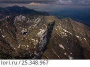 Купить «Aerial view of the northern slope of Mount Krivàn (2,495m) High Tatras, Carpathian Mountains, Slovakia, June 2009», фото № 25348967, снято 4 апреля 2020 г. (c) Nature Picture Library / Фотобанк Лори