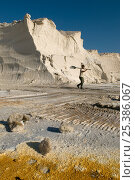 Купить «Stocks of salt at commerical salt farm, Salin de Giraud, Camargue, France, July 2008», фото № 25386067, снято 14 декабря 2017 г. (c) Nature Picture Library / Фотобанк Лори