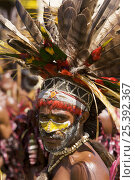 Купить «Villager with traditional feathered headdress in Goroka, Eastern Highlands Province, Papua New Guinea. September 2004», фото № 25392367, снято 21 июля 2018 г. (c) Nature Picture Library / Фотобанк Лори