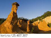 Купить «Erosion in the old ochre quarry, known as the Colorado Provençal at Rustrel, Provence, France. June 2008.», фото № 25407307, снято 17 октября 2018 г. (c) Nature Picture Library / Фотобанк Лори