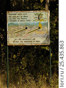 Prevention of forest fires, sign. Gir Forest National Park, Gujarat, India 2006, фото № 25435863, снято 22 июля 2017 г. (c) Nature Picture Library / Фотобанк Лори