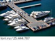 Купить «Boats moored-up to pontoon, Alicante, Spain. 2006», фото № 25444787, снято 16 августа 2018 г. (c) Nature Picture Library / Фотобанк Лори