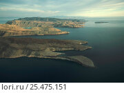 Купить «Aerial view of Espiritu Santo Island, Gulf of California, Mexico», фото № 25475151, снято 25 января 2020 г. (c) Nature Picture Library / Фотобанк Лори