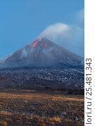 Извержение стратовулкана Ключевская сопка на Камчатке, фото № 25481343, снято 1 октября 2016 г. (c) А. А. Пирагис / Фотобанк Лори