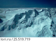 Купить «Summit ridges of Mount Cook from Hooker Valley. South Island, New Zealand», фото № 25519719, снято 19 августа 2018 г. (c) Nature Picture Library / Фотобанк Лори