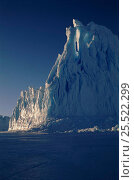 Iceberg, Auster 'EP' Rookery, Cape Darnley, Australian Antarctic Territory, Antarctica. Стоковое фото, фотограф Pete Oxford / Nature Picture Library / Фотобанк Лори