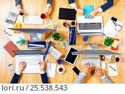 Купить «Interacting as team for better results . Mixed media», фото № 25538543, снято 20 сентября 2016 г. (c) Sergey Nivens / Фотобанк Лори