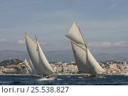 Купить «Classic yachts racing in Cannes Royal Regatta, France, 2007. All non-editorial uses must be cleared individually.», фото № 25538827, снято 16 июля 2018 г. (c) Nature Picture Library / Фотобанк Лори