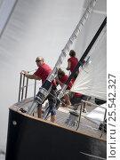 "Купить «Bow of ""Ganesha"" designed by Dubois and Fitzroy, length 39m. The Superyacht Cup, Palma de Mallorca, June 2007.», фото № 25542327, снято 22 сентября 2018 г. (c) Nature Picture Library / Фотобанк Лори"