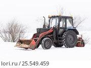 Машина уборочно-погрузочная на базе трактора Беларус (2017 год). Редакционное фото, фотограф Александр Щепин / Фотобанк Лори