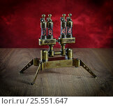 Купить «Часы на газоразрядных лампах», фото № 25551647, снято 13 февраля 2017 г. (c) Валерий Александрович / Фотобанк Лори