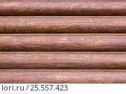 Купить «Фон стена из брёвен», фото № 25557423, снято 12 августа 2016 г. (c) Евгений Рашевский / Фотобанк Лори