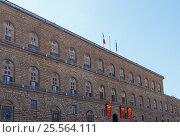 Facade of the Palazzo Pitti in Florence. Стоковое фото, фотограф Вадим Бочкарев / Фотобанк Лори