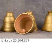Decorative and music Ceramic handmade bell. Стоковое фото, фотограф Глыцко Андрей / Фотобанк Лори