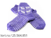 Купить «Красивые вязаные носки с орнаментом», фото № 25564851, снято 15 февраля 2017 г. (c) Наталья Осипова / Фотобанк Лори