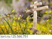 Old wooden cross in the sun. Стоковое фото, фотограф Светлана Булычева / Фотобанк Лори
