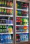 Торговля. Холодильники c широким ассортиментом безалкогольных прохладительных напитков в супермаркете., фото № 25569595, снято 12 февраля 2017 г. (c) Александр Тарасенков / Фотобанк Лори