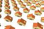 Модели частных загородных домов стоящих рядами на белом фоне. объемное моделирование., иллюстрация № 25571055 (c) Варенов Александр Владимирович / Фотобанк Лори