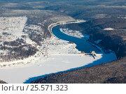 Павловская гидроэлектростанция на реке Уфа, Башкирия, фото № 25571323, снято 4 февраля 2017 г. (c) Владимир Мельников / Фотобанк Лори