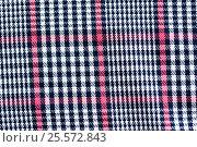 Купить «close up of checkered textile or fabric background», фото № 25572843, снято 15 сентября 2016 г. (c) Syda Productions / Фотобанк Лори