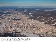 Купить «Город Миасс зимой, вид сверху», фото № 25574247, снято 4 февраля 2017 г. (c) Владимир Мельников / Фотобанк Лори
