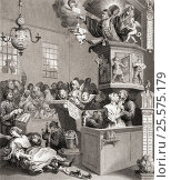 Credulity, Superstition and Fanaticism. Engraved by C Mottram after Hogarth from The Works of Hogarth published London 1833. Редакционное фото, фотограф Classic Vision / age Fotostock / Фотобанк Лори