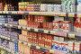 Молочные продукты полках супермаркета, фото № 25576183, снято 16 февраля 2017 г. (c) Юрий Морозов / Фотобанк Лори