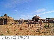 Купить «Сарай-Бату. Юрты, культовые сооружения и повозка», эксклюзивное фото № 25576543, снято 23 августа 2013 г. (c) Volgograd.travel / Фотобанк Лори