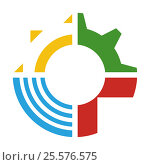 Логотип МБУ «Технопарк-Липецк» Редакционная иллюстрация, иллюстратор Tatyana Krasikova / Фотобанк Лори