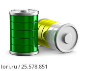 Купить «battery on white background. Isolated 3d image», иллюстрация № 25578851 (c) Ильин Сергей / Фотобанк Лори