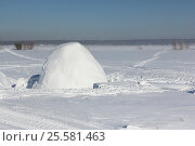 Купить «Igloo standing on a snowy glade in the winter», фото № 25581463, снято 18 февраля 2017 г. (c) Наталия Макарова / Фотобанк Лори