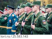 Купить «Солдаты в строю», фото № 25583143, снято 12 апреля 2019 г. (c) Михаил Михин / Фотобанк Лори