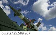 Купить «Modern Russian anti-aircraft missiles against the sky», видеоролик № 25589967, снято 19 февраля 2017 г. (c) Владимир Журавлев / Фотобанк Лори