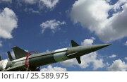 Купить «Modern Russian anti-aircraft missiles against the sky», видеоролик № 25589975, снято 19 февраля 2017 г. (c) Владимир Журавлев / Фотобанк Лори