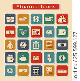 Set of Financial Icons. Стоковая иллюстрация, иллюстратор Silanti / Фотобанк Лори