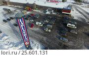 """Купить «ТЦ """"Лапландия маркет"""" (Laplandia market) на финско-российской границе в Нуйямаа (Nuijamaa). Финляндия», видеоролик № 25601131, снято 22 февраля 2017 г. (c) Кекяляйнен Андрей / Фотобанк Лори"""