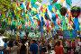 Decorated square of Gracia district, фото № 25606055, снято 16 августа 2015 г. (c) Яков Филимонов / Фотобанк Лори