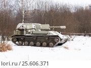 Купить «Самоходная артиллерийская установка СУ-76», эксклюзивное фото № 25606371, снято 23 февраля 2017 г. (c) Александр Щепин / Фотобанк Лори