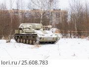 Купить «Самоходная артиллерийская установка СУ-76», эксклюзивное фото № 25608783, снято 23 февраля 2017 г. (c) Александр Щепин / Фотобанк Лори