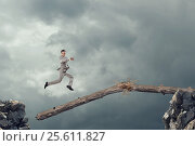 Купить «Overcoming fear of failure . Mixed media . Mixed media», фото № 25611827, снято 18 мая 2012 г. (c) Sergey Nivens / Фотобанк Лори