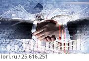Купить «Working together for better results . Mixed media», фото № 25616251, снято 23 августа 2019 г. (c) Sergey Nivens / Фотобанк Лори