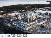 Валаамский монастырь с высоты птичьего полета. Стоковое фото, фотограф Потехин Сергей / Фотобанк Лори
